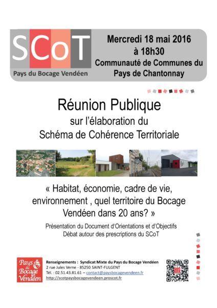 Affiche réunion Publique SCoT- Chantonnay -Les Essarts