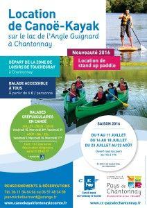 Affiche canoë-kayak - saison 2016