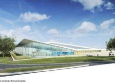 Centre aquatique du Pays de Chantonnay – Perspective depuis le Boulevard Thomas Voeckler