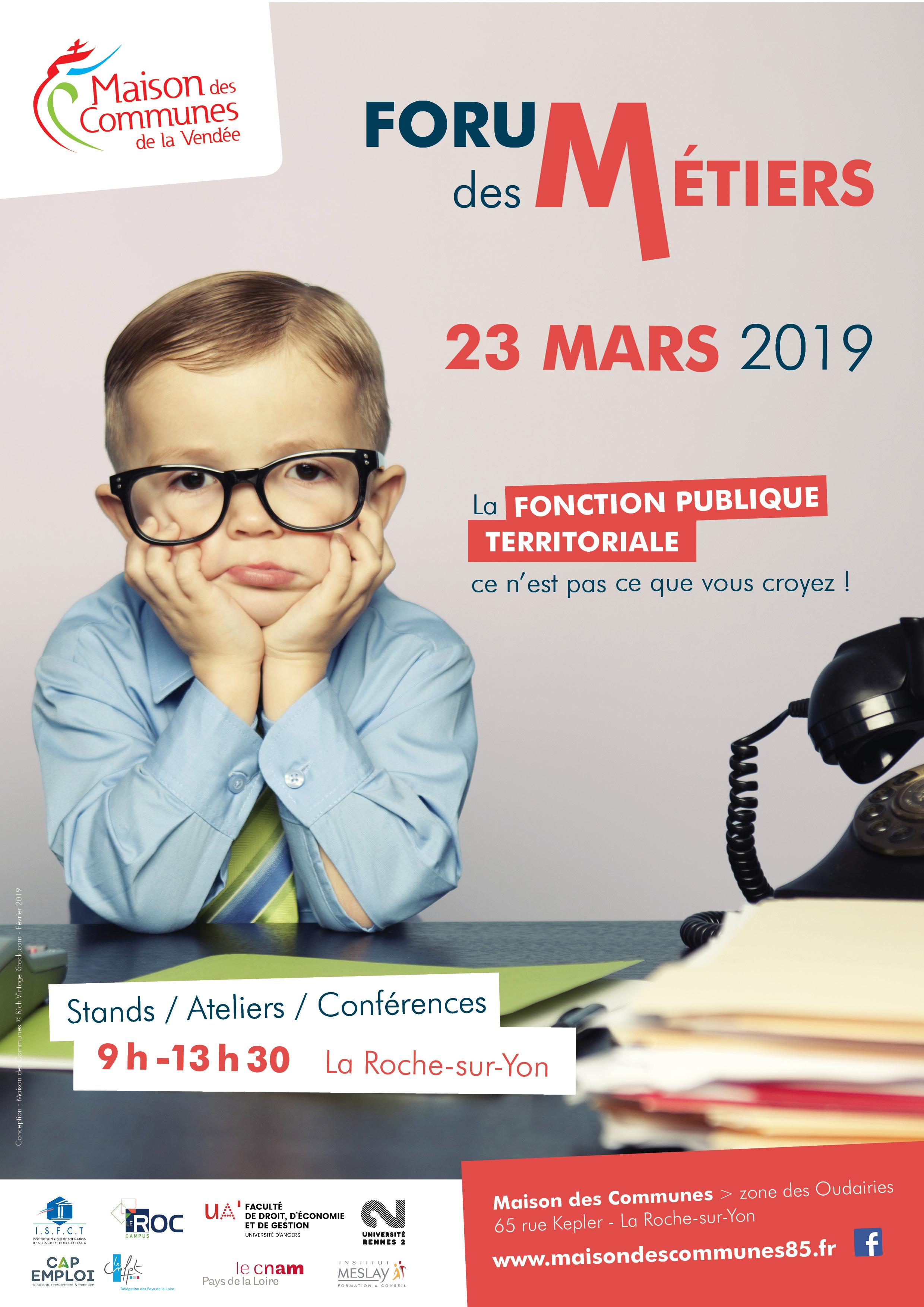 8deb890271a La 4ème édition du Forum des Métiers Territoriaux aura lieu le samedi 23  mars 2019 à la Maison des Communes de la Roche-sur-Yon
